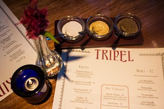 The menu at Tripel | Mabel Suen