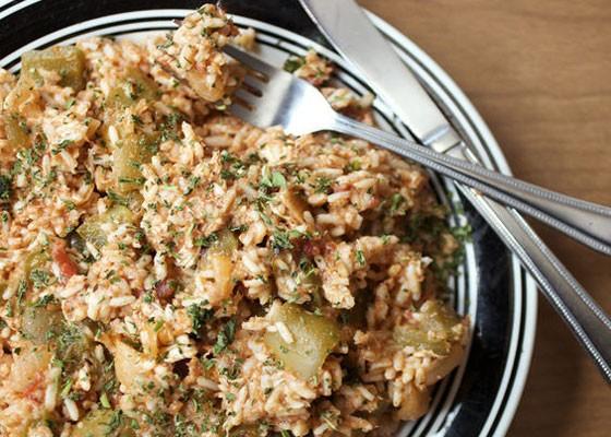 Chicken and sausage jambalaya.   Jennifer Silverberg