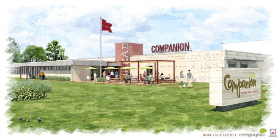 A rendering of the new Companion facility. | Courtesy Companion Bakery