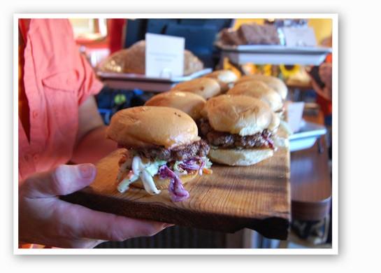 Burgers and beers.   Nancy Stiles