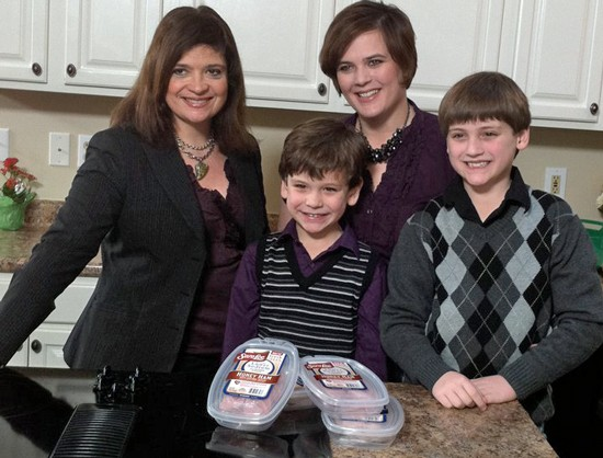 Chef Alex Guarnaschelli (at left), the Christoffersons and...meat. - HOLLY FANN