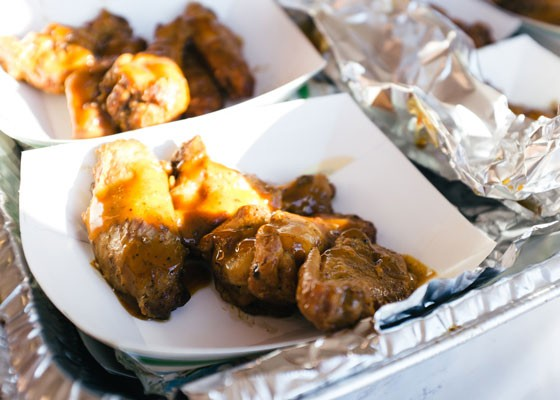 Colonel Stan's chicken wings at Kenrick's Meats. | Bryan Sutter