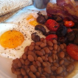 Bacon and beans for breakfast! - HOLLY FANN