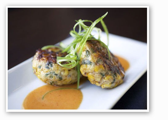 Crab Cakes with chipotle buerre blanc. | Jennifer Silverberg