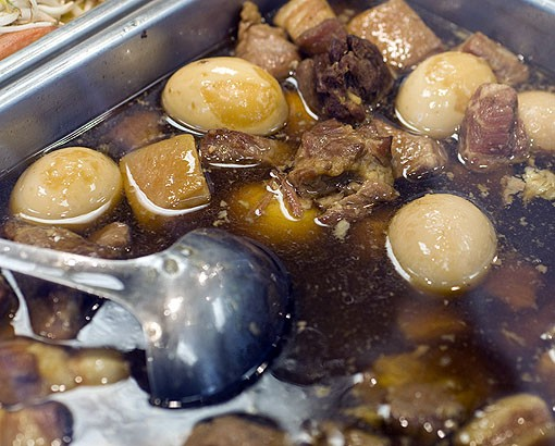 Thit Kho, or egg and pork soup, is available at the counter buffet. See more photos from the kitchen of Phuc Loi in this slideshow. - PHOTO: JENNIFER SILVERBERG