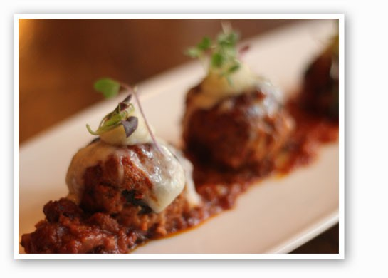 Meatballs of veal, ground lamb and pork sausage. | Nancy Stiles
