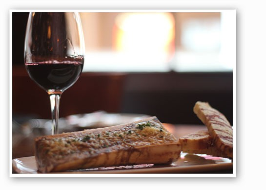 The bone marrow luge at Bugatti's, with port. | Nancy Stiles