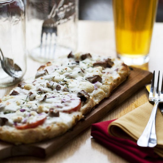 """The """"Steakhouse"""" pizza at Crushed Red - JENNIFER SILVERBERG"""