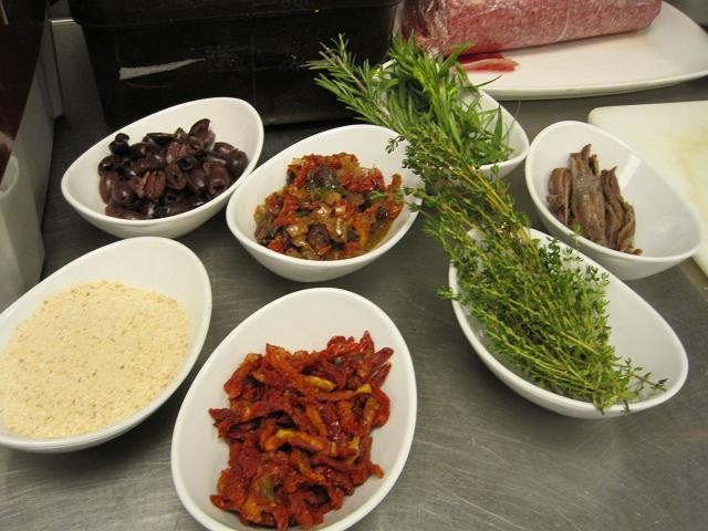 Ingredients prepped for Constance's meatloaf recipe - ROBIN WHEELER