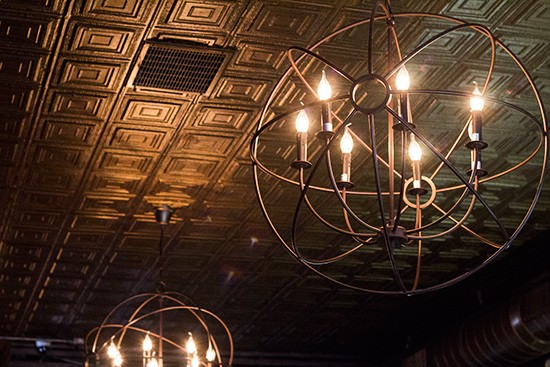 Light fixture in the bar.