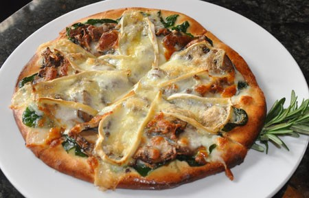 "The ""Wild Thing"" pizza at Wild Flower Restaurant. 