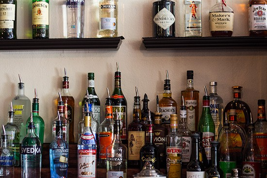 The liquor selection.