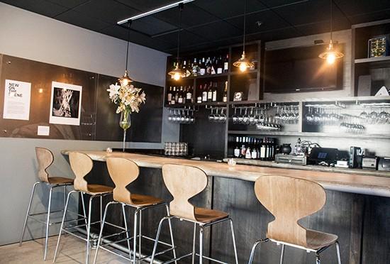 A closer look at the bar.