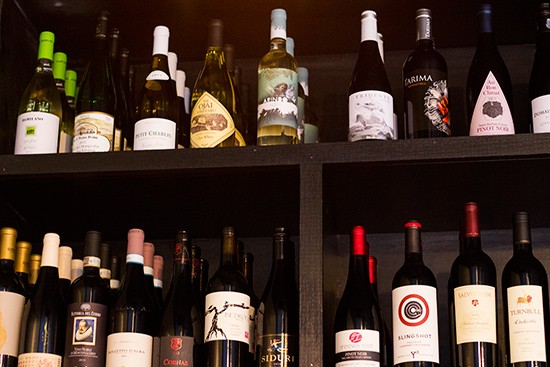 A selection of wines.