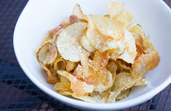Recommended snacking on the side: Parmesan-truffle potato chips.
