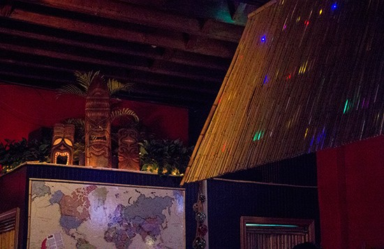 Tiki decor in every corner.