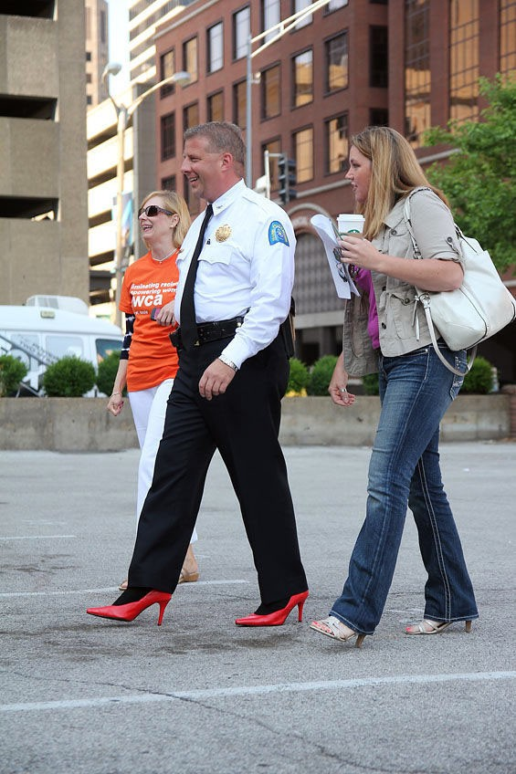 Police Chief Sam Dotson at a publicity event to draw attention to sexual assault. - SOURCE
