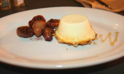 Goat cheese makes an encore appearance on the menu, in a cheesecake. - CHRISSY WILMES