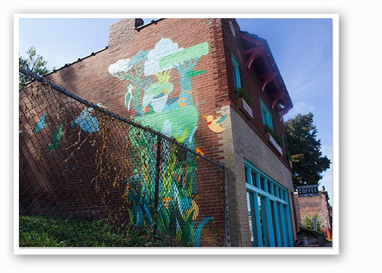 Mural on the side of Rise. | Mabel Suen