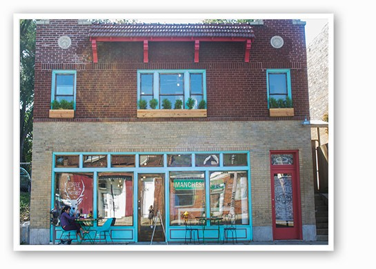 Rise Coffee's two-story brick bungalow. | Mabel Suen