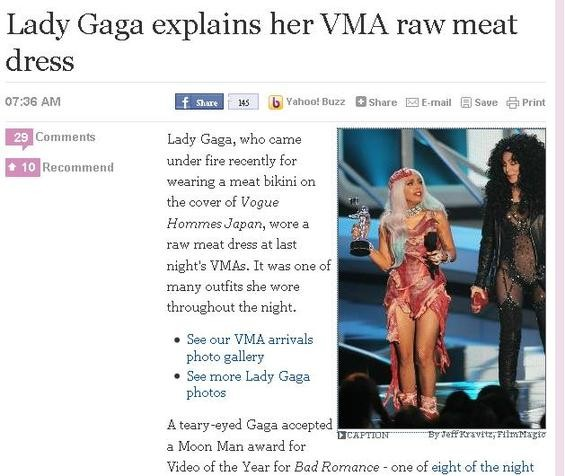 Animals were harmed in the making of this dress. - SCREENSHOT: WWW.USATODAY.COM