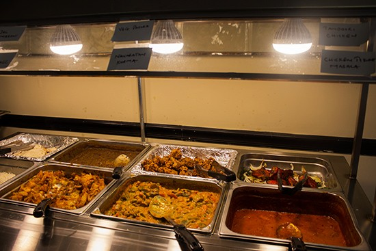 Buffet selections.