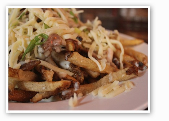 Smothered fries at The Shaved Duck