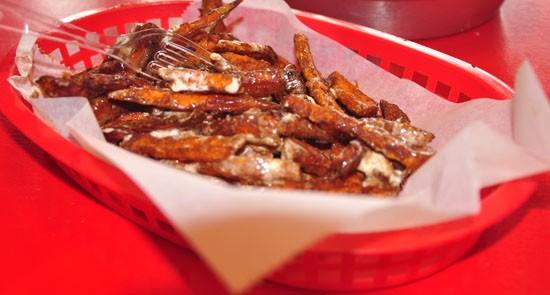 Sweet-potato fries at the Kitchen SInk. - TARA MAHADEVAN