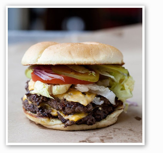 The double cheeseburger at Sugarfire Smokehouse. | Jennifer Silverberg