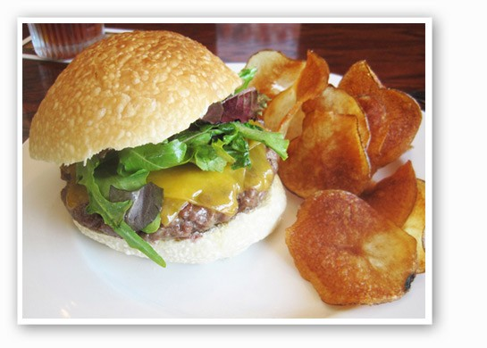 The burger at Five Bistro.   Ian Froeb