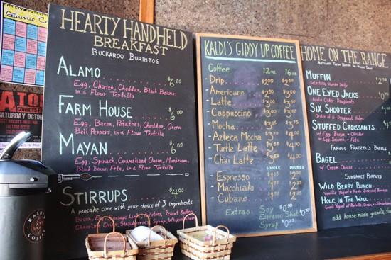The menu at Giddy Up Breakfast Bar. - MABEL SUEN