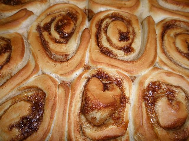 Meanwhile, the cinnamon rolls are ready to go! - ROBIN WHEELER