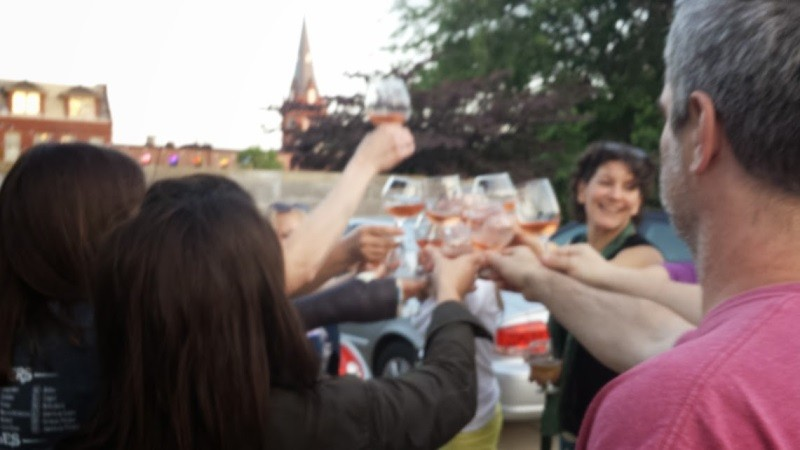 A celebratory toast - RICHARD HAEGELE