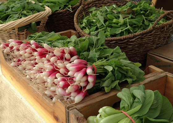Produce from Three Rivers Community Farm at the Schlafly Farmers' Market, hosted by the brewery. | Zach Garrison