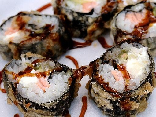 Sushi rolls from the Drunken Fish - EGAN O'KEEFE