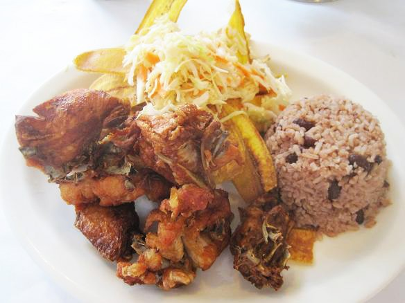 THE CHICHARRON DE POLLO AT FRITANGA