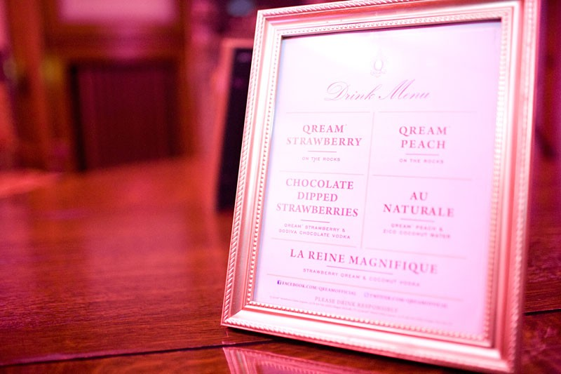 The Qream-based cocktail menu for Wednesday's event. - JERREN MCKENNY