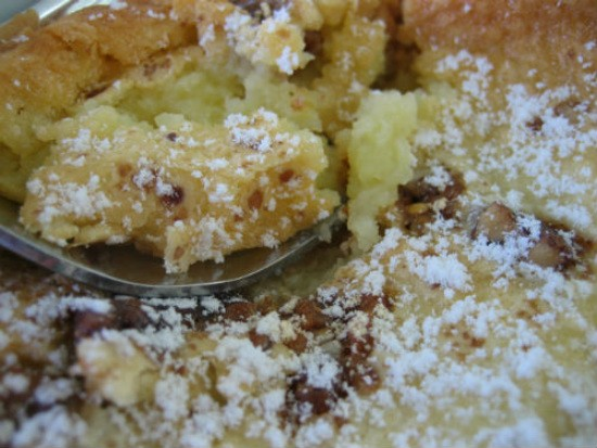 Gooey Louie gooey butter cake right before entering our belly. - REASE KIRCHNER