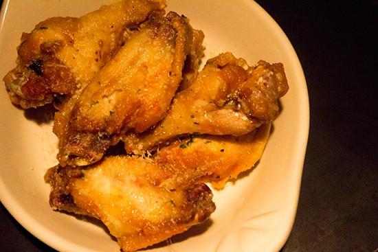 Parmesan garlic wings.