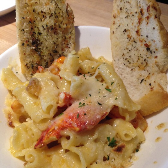 Lobster mac & cheese.   Nancy Stiles