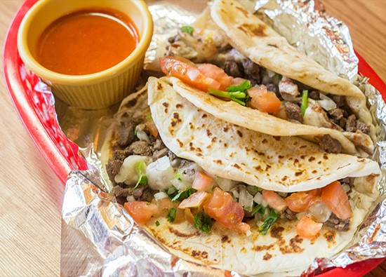 Steak tacos.
