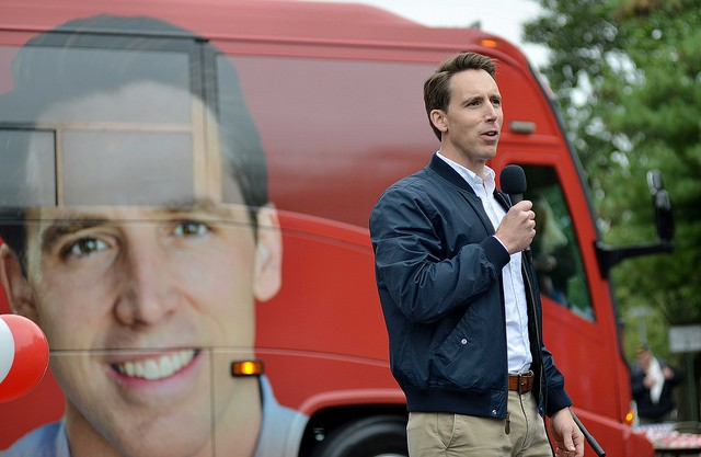 Attorney General Josh Hawley has been werking it on the road. - TOM HELLAUER