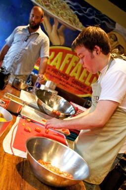 Entre:Underground chef John Perkins (left) and chef Efrain Cuevas of the Clandestino Chicago Supper Club - STEPHEN BARBER
