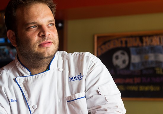 Bocci Wine Bar executive chef Neil Alkobri.