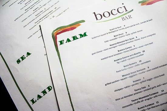 The food menu.