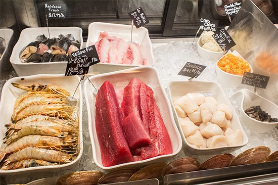 Truffles Butchery also offers a selection of seafood...