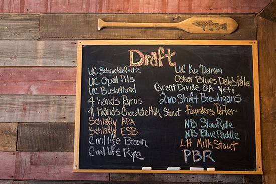 Check the board to see what's on tap.