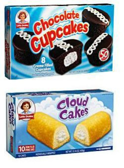 Little Debbie Chocolate Cupcakes and Cloud Cakes. - IMAGE VIA