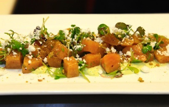 The roasted golden beet salad at Vino Nadoz | Beth Clauss