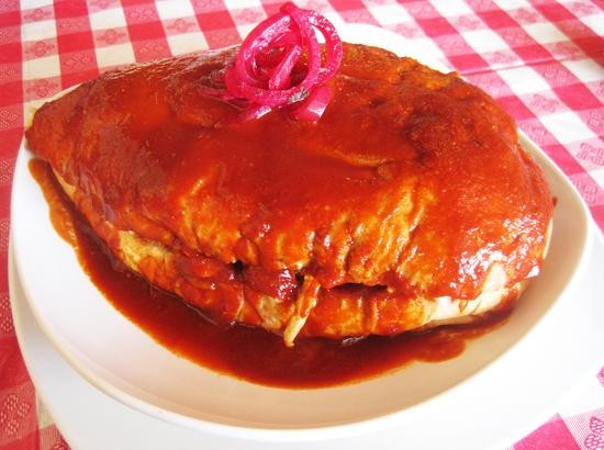The torta ahogada at Overland's El Mexiquense - IAN FROEB